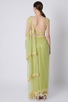 Mint Green Saree Set by Shivangi Jain