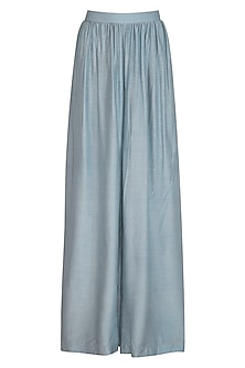 Powder Blue Wide Leg Pants by Shiori