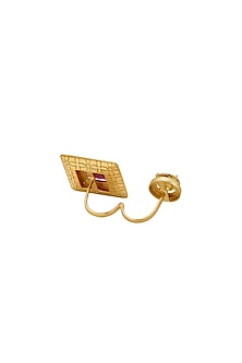 Gold Finish Yellow Cubic Zirconia Ring by RockkRagaa
