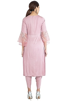 Rose Pink Embroidered Tunic Set by Show Shaa