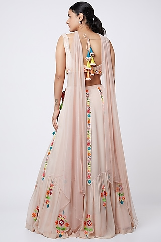 Blush Pink Sequins Embroidered Lehenga Set by Shweta Agrawal