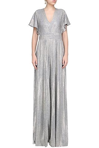 Silver 70S Jumpsuit by 431-88 By Shweta Kapur