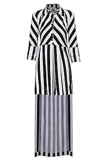Black and White Shift Dress by Shian