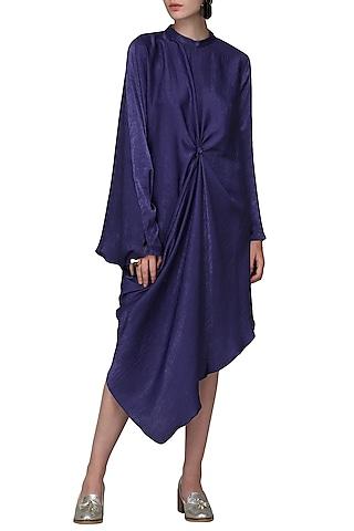 Blue Asymmetrical Dress by Shian