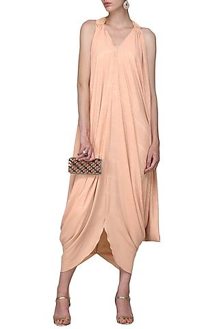 Peach Cutout Dress by Shian