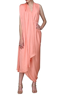 Pink Asymmetrical Dress by Shian