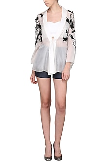 White Sheer Jacket by Shian