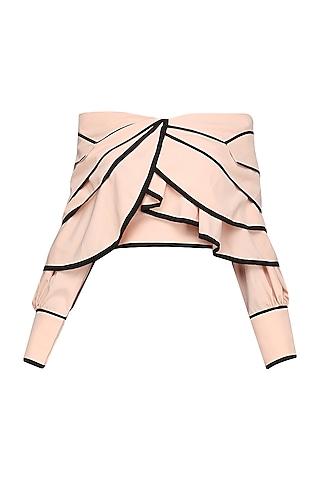Blush Pink Off Shoulder Top by Shian