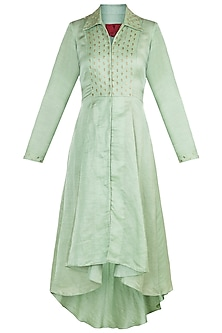 Mint Green Embroidered Tunic by Shilpa Reddy