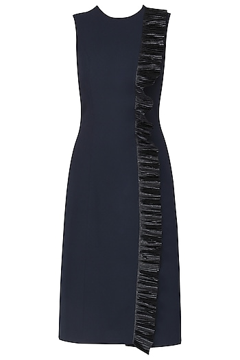 Blue fitted dress by SHEENA SINGH