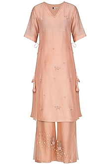 Hazelnut Embroidered Kurta With Pants by Show Shaa