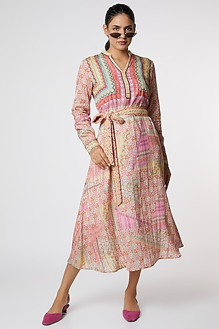 Multi Colored Digital Printed Dress by SIDDHARTHA BANSAL