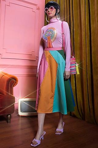 Pink Printed Top by SIDDHARTHA BANSAL