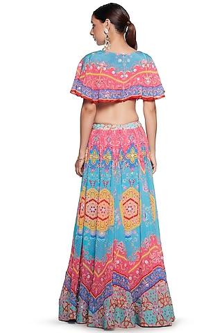 Multi Colored Skirt Set by SIDDHARTHA BANSAL