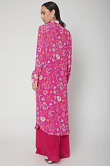 Royal Pink Digital Printed Shirt With Pants by SIDDHARTHA BANSAL