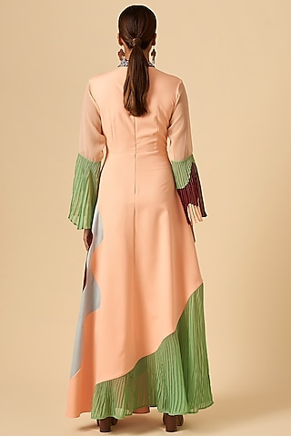 Baby Pink Embroidered Dress by SIDDHANT AGRAWAL