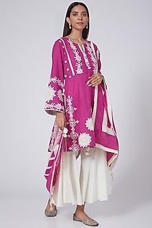 Blush Pink Embroidered Kurta Set by Simar Dugal-POPULAR PRODUCTS AT STORE