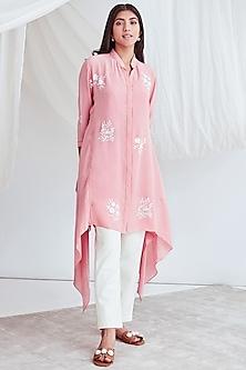 Blush Pink Tunic With Slip by Sitaraa-SITARAA