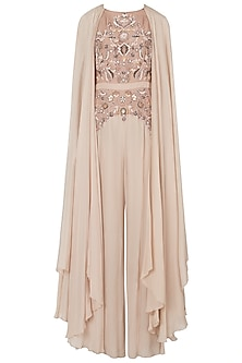 Mud rose embroidered jumpsuit by Shreya Jalan Mehta