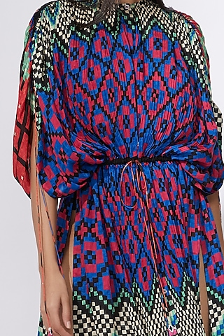 Multi Colored Printed Kaftan by Saaksha & Kinni
