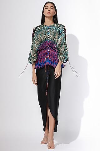 Multi Colored Kaftan Style Blouse by Saaksha & Kinni