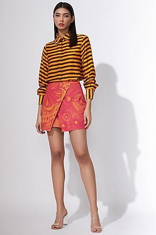 Pink & Yellow Printed Skirt by Saaksha & Kinni