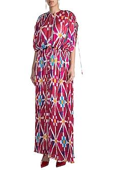 Blush Pink Digital Printed Kaftan by Saaksha & Kinni
