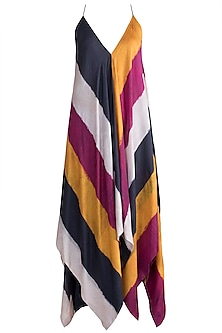 Fuchsia Printed Asymmetrical Tunic by Saaksha & Kinni