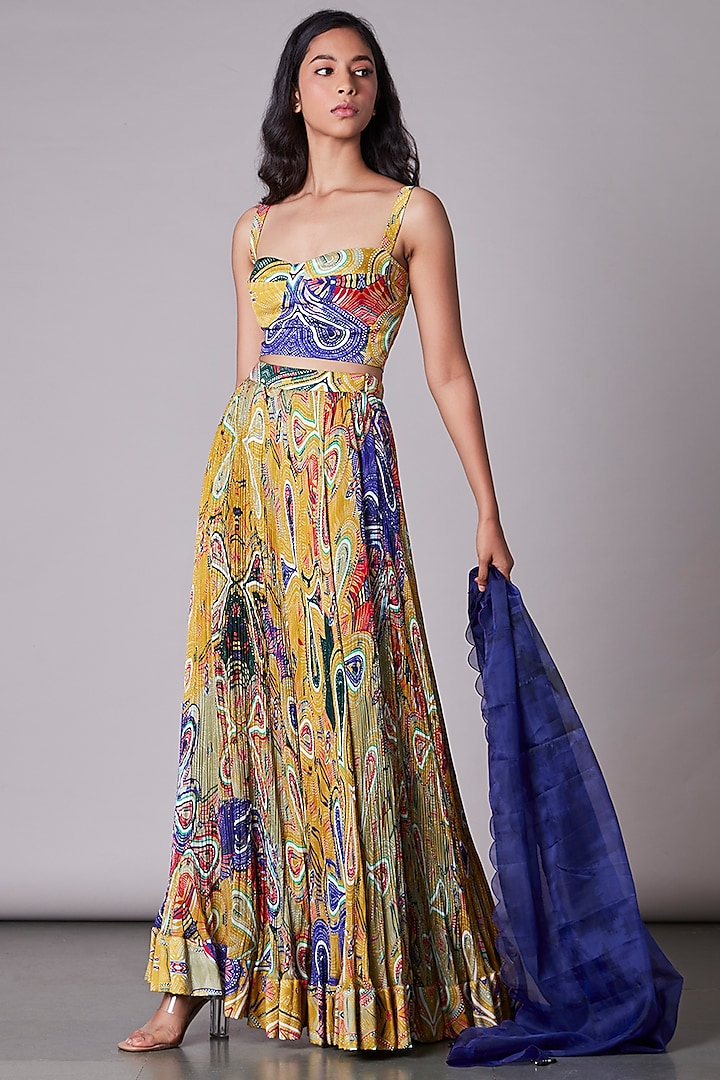 Multi-Colored Bustier With Print by Saaksha & Kinni