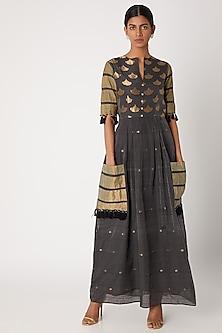 Grey Handwoven Tunic Dress by Sourabh Kant Shrivastava