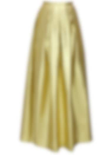 Gold shimmer pleated maxi skirt by Sonal Kalra Ahuja