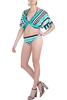 Mint striped bikini set by KAI Resortwear