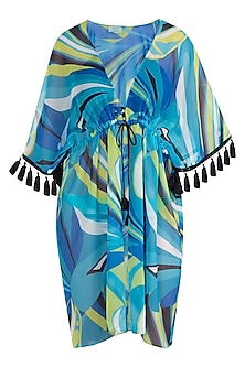 Blue luna tassel cover up by KAI Resortwear