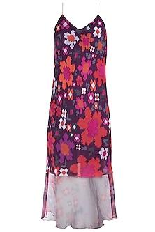 Multi Colored Floral Printed Slip Dress by Saaksha & Kinni