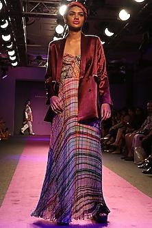 Blush Pink Digital Printed Maxi Dress by Saaksha & Kinni