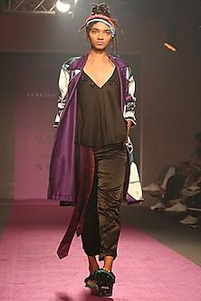 Black Embroidered Camisole by Saaksha & Kinni