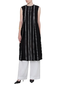Black Box Pleated Kurta by Saaksha & Kinni