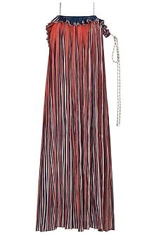 Multi-Coloured Micropleated Maxi Dress by Saaksha & Kinni