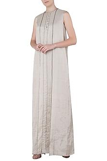 Silver Box Pleated Maxi Dress by Saaksha & Kinni