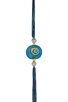 Blue Evil Eye Bead Rakhi by SONNET