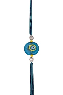 Blue Evil Eye Bead Rakhi by SONNET