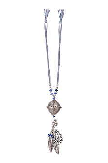 Oxidised Leaf & Blue Beaded Lumba by SONNET