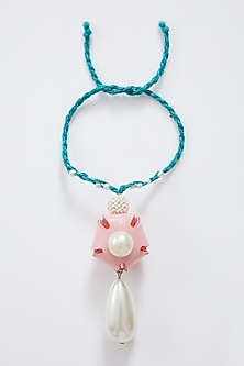 Blue & Pink Pearl Drop Lumba by Sonnet-SEND RAKHIS TO SINGAPORE
