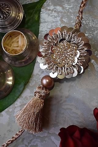 Gold Sequins Rakhi by Sonnet