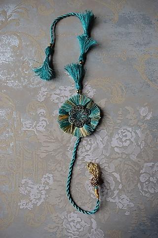 Blue Rakhi With Thread Work by Sonnet
