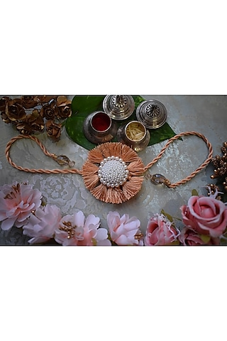 Peach Pearl Rakhi by Sonnet