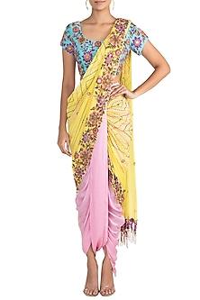 Multi Colored Dhoti Saree Set by Sonam Luthria