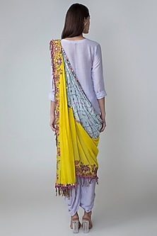 Light Purple Shirt & Dhoti Set With Knotted Dupatta by Sonam Luthria