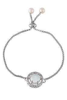 Silver Finish Adjustable Zodiac Bracelet Rakhi by Silvermerc Designs-SILVER RAKHIS