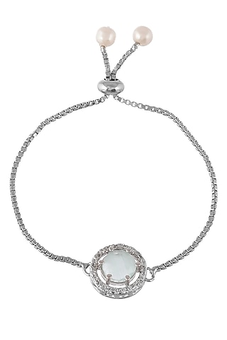 Silver Finish Adjustable Zodiac Bracelet Rakhi by Silvermerc Designs